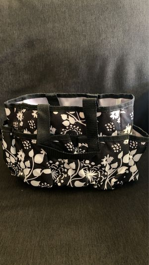 Black and white flowers thirty-one tote bag organizer for Sale in Glendale, AZ