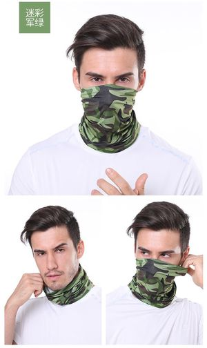 Cooling Neck Gaiter Camouflage face fishing mask ice silk head scarf tube bandana scarf for Sale in Uniondale, NY