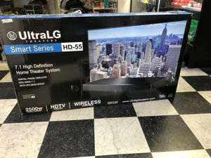 UltraLG HD-55 Smart Series High Definition Home Theater System - 2500W for Sale in Whittier, CA