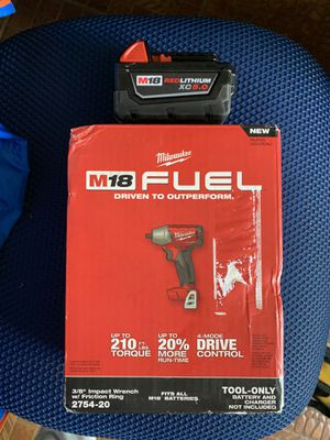 Milwaukee M18 FUEL 18-Volt Lithium-Ion Brushless Cordless 3/8 in. Compact Impact Wrench with Friction Ring with 1 XC 5.0 battery NO CHARGER for Sale in Miami, FL
