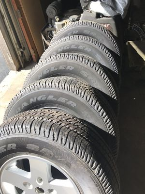 5,Goodyear tires and rims for Sale in Grove City, OH