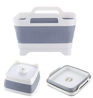 Sink portable foldable with drain, perfect for kitchen and camping. Cesta lavaplatos colapsable y portátil for Sale in Miami, FL