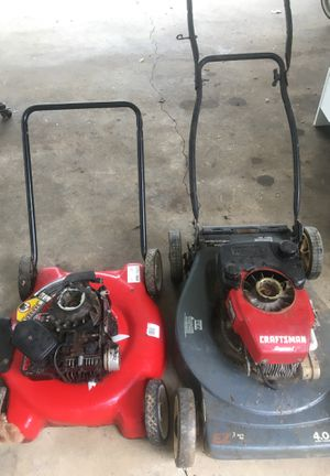 Two lawn mowers for parts for Sale in Ellenwood, GA