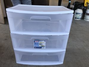 Plastic drawers for Sale in Escondido, CA
