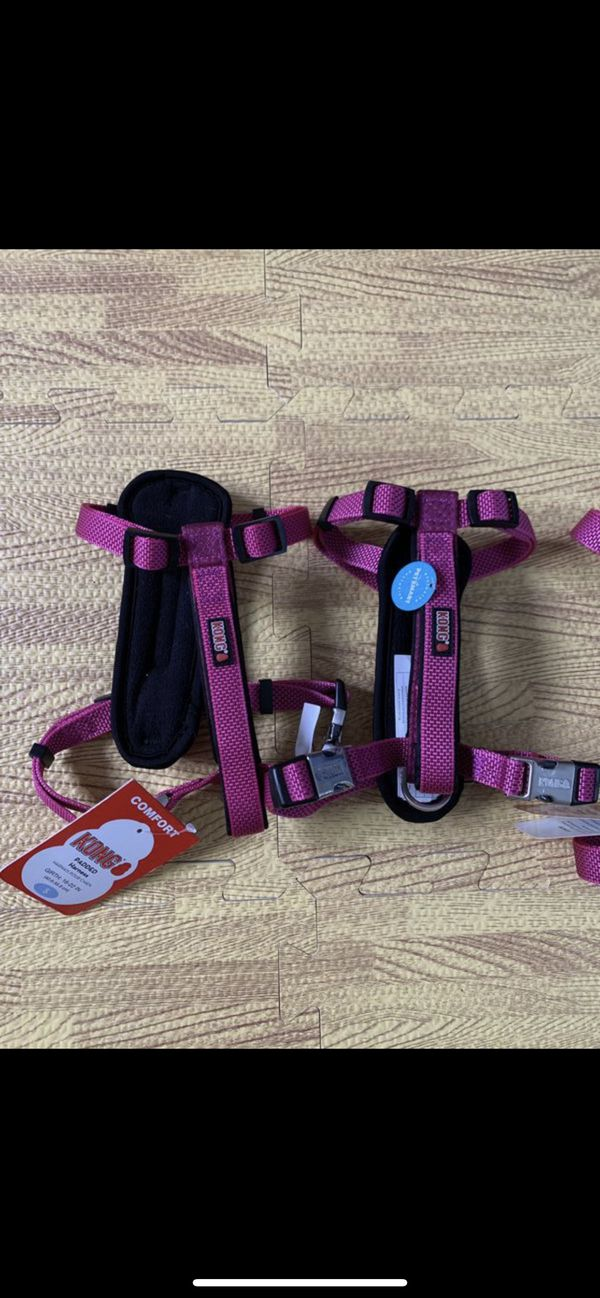 Kong collar pink only and harness Pink only and dog shoes/boots