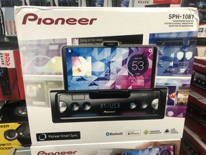 Pioneer sph-10bt English stereo smart phone receiver that works with Android and apple for Sale in Lynwood, CA
