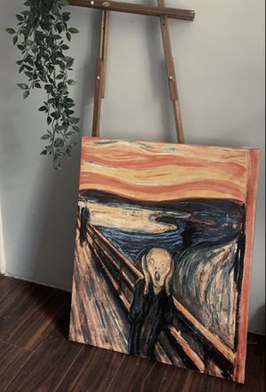 The Scream by Edvard Munch — 1893 reprint on canvas for Sale in White Pine, TN