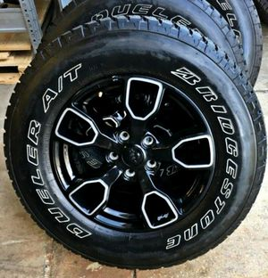 2019 JEEP WRANGLER RIMS SAHARA MIDNIGHT & 5 BRAND NEW TIRES for Sale in Houston, TX