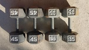 DUMBBELLS 45 POUND AND 35 POUND SETS for Sale in Latrobe, PA