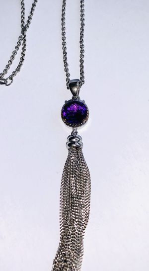 .925 sterling silver with 14k silver plated necklace for Sale in Queens, NY