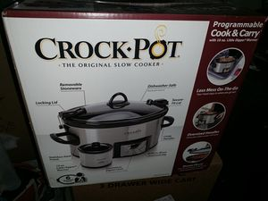 NEW Crock Pot Slow Cooker Programmable 6 QT $59.99 for Sale in Schaumburg, IL