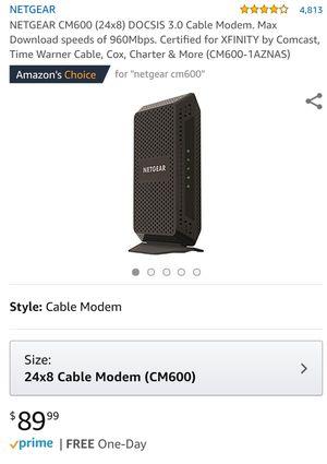 Netgear high speed cable modem for Sale in Chandler, AZ