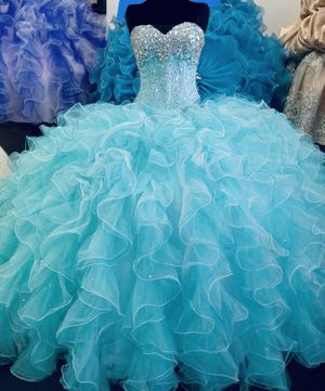Cyan Prom Dress/Ball Gown for Sale in Detroit, MI