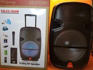15 Inch New Bluetooth Speaker SD Card,Slot USB Port,FM Radio,Microphone Included For Karaoke ( Bosina ) Bz3 for Sale in Moreno Valley, CA