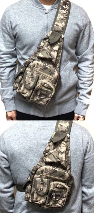 Brand NEW! Multipocket Digital Crossbody/Shoulder/Side Bag/Sling Bag/Pouch For Traveling/Biking/Camping/Fishing/Everyday Use/Jogging/Gifts $18 for Sale in West Carson, CA