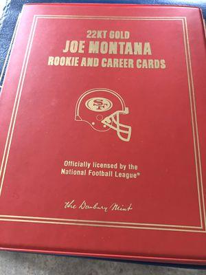 The Danbury Mint 22kt gold joe Montana cards for Sale in San Jose, CA