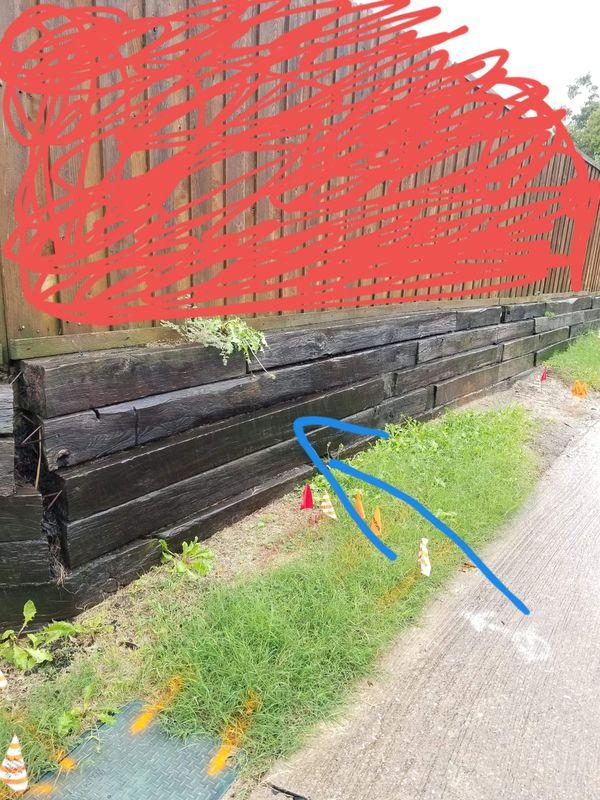 troncos de muro de contención