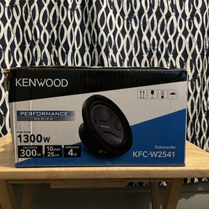 Kenwood eXcelon KFC-W2541 10in 1300w Max Subwoofer for Sale in Vernon, CA