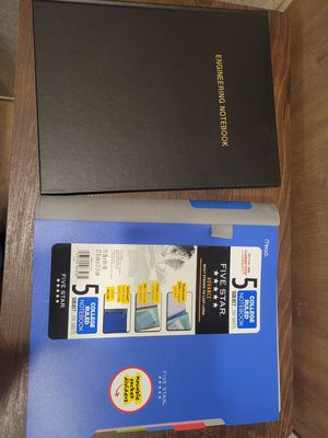 Engineering notebook and five subject notebook for Sale in Hayward, CA