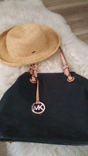 Michael Kors bag/ Scala straw hat for Sale in Manteca, CA