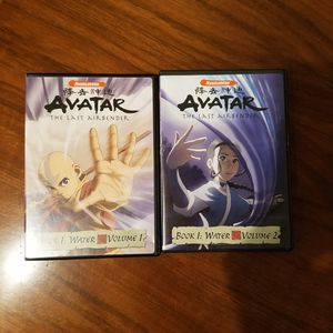 Avatar The Last Airbender DVD Book 1 Water Volumes 1 and 2 for Sale in Chevy Chase, MD