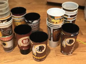 Redskins beer cups , I have a lot off 20 of them for Sale in New Market, MD