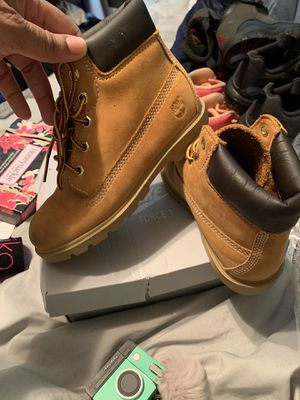 Size 12 timberland boots toddler for Sale in Atlanta, GA