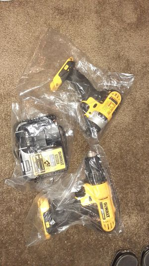 DeWalt cordless drill impact charger two batteries for Sale in St. Louis, MO