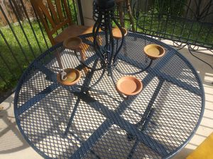 Table and chandelier / patio furniture for Sale in San Antonio, TX
