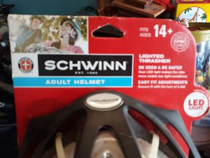 New Schwinn Thrasher Adult Bicycle Helmet Gray With LED Rear Light Fits Ages 14+ for Sale in Taylors, SC