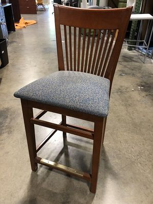 Nice cherry wood bar stools - 2 available - price is per stool for Sale in Pompano Beach, FL