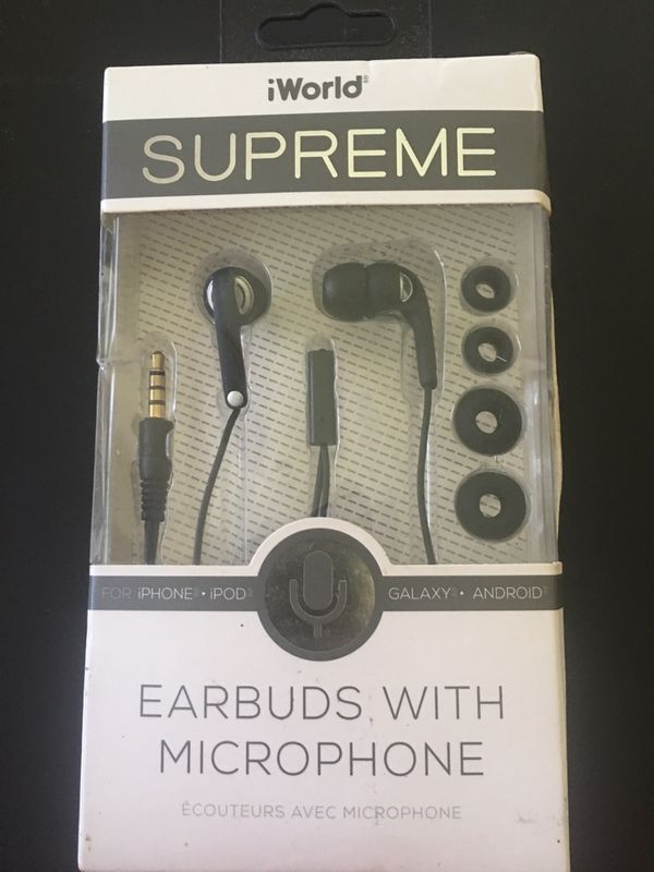 Iworld earbuds with microphone