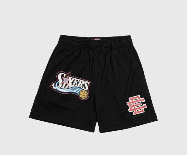 Eric Emanuel Basic Shorts 76ers Black Sz L