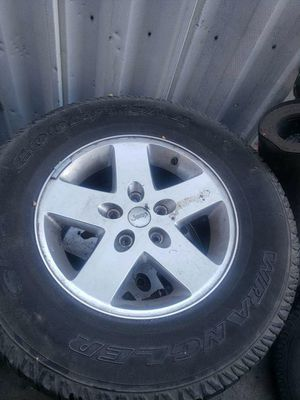 Jeep wrangler wheels / rims / tires for Sale in San Bernardino, CA