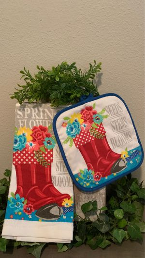 Pioneer woman INSPIRED ONLY kitchen towel set for Sale in Covington, LA