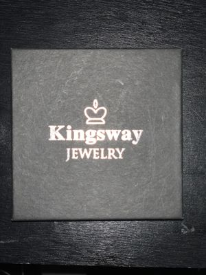 Kingsway Jewelry His and Hers 925 Sterling Silver Blue Saphire Stainless Steel Wedding Rings Set Blue for Sale in Queens, NY