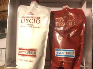 Liscio crystal cream straightener 14.1 oz & Neutralizer 14.1 oz. strong for Sale in Brooklyn, NY