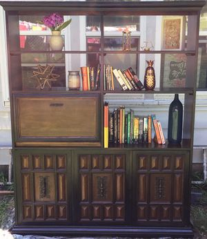 Refurbished solid wood bookcase for Sale in Lowell, MI