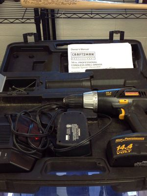 Craftsman Professional Cordless Drill with 2Batteries and Charger for Sale in Ashtabula, OH