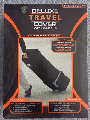 Golf travel bag cover with wheels NEW in box for Sale in Glenwood, MD