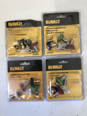 Dewalt pressure washer nozzles/tips NEW open box for Sale in San Diego, CA