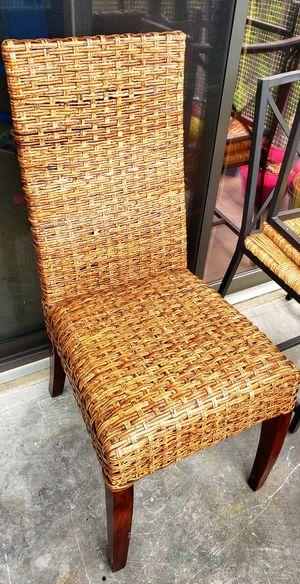 Patio woven wicker chairs for Sale in Alexandria, VA