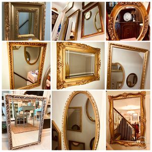 Exquisite collection of decorative ornate mirrors for Sale in Chevy Chase, MD