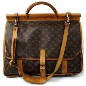 Authentic Louis Vuitton Sac Chasse M41140 Brown Monogram Travel Bag 11391 for Sale in Plano, TX
