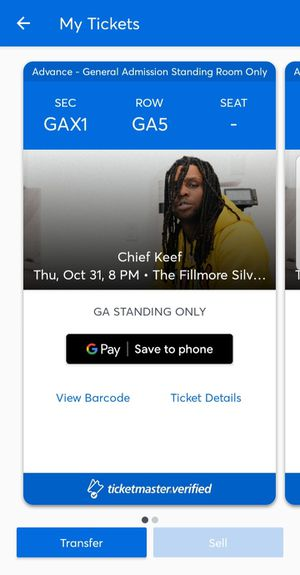 Chief keef concert ticket for Sale in Annandale, VA