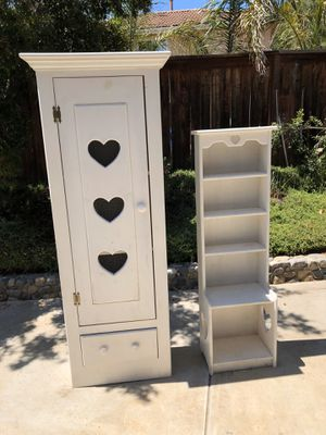 Little Girls room furniture. Custom made with 3 tier Shelving inside. Made from real wood. for Sale in Escondido, CA