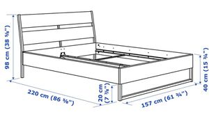 IKEA queen-size bed (Trysil, Skorva, Lonset, Hasvag) for Sale in San Jose, CA