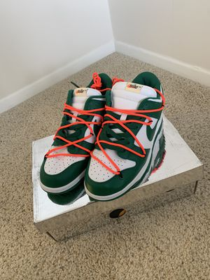 Nike Off White Dunk 'Pine Green' sz 10 for Sale in Alexandria, VA