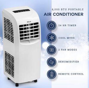 DELLA Air Conditioner Cooling Fan 8,000 BTU Portable Dehumidifier A/C Remote Control Window Vent Kit White Home Office for Sale in Altadena, CA