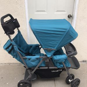 DOUBLE STROLLER JOOVY WITH ADAPTER for Sale in Los Angeles, CA